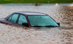 how to spot a flood damaged vehicle blog post photo of car flooded