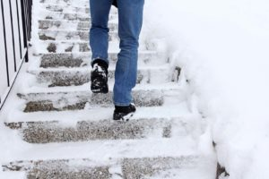 Risk of slipping when climbing stairs in winter can I sue when I slip and fall on ice blog post photo