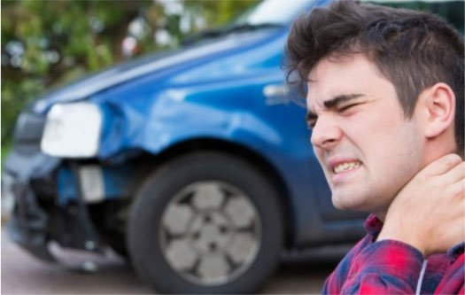 man who experienced personal injury from a car accident leaving him with neck pain