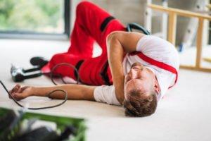 man who injured his shoulder at work